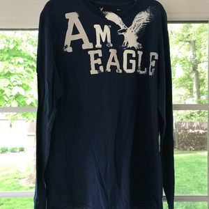 American Eagle Outfitters Shirts - Navy long sleeve